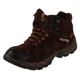 Mountrek Mens Victory Summit Mid Dark Brown Hiking Shoes