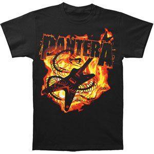 Rockabilia Pantera Guitar Snake T shirt Small Clothing