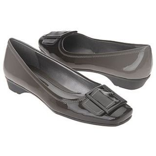 Liz Claiborne Pearl Grey/Black Patent Flat (7M) Shoes