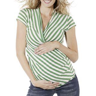 Lilac Clothings Womens Maternity Karen Green Stripe Top
