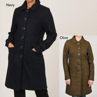 CoffeeShop Womens Wool blend 3/4 length Coat
