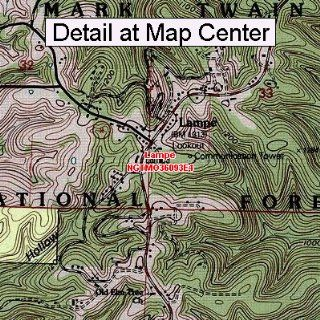 USGS Topographic Quadrangle Map   Lampe, Missouri (Folded
