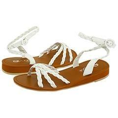 Sugar Kids Braided Summer (Youth) White Sandals