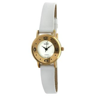 Peugeot Vintage 380 4 White Leather Deco Watch