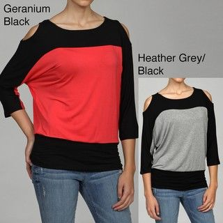 Cable & Gauge Womens Dolman sleeve Top