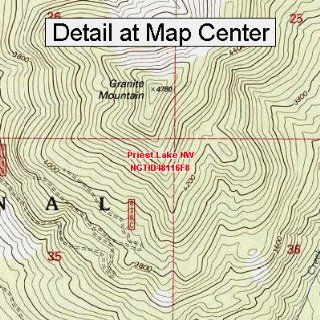 USGS Topographic Quadrangle Map   Priest Lake NW, Idaho