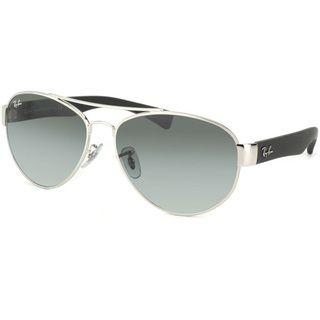 Ray Ban Unisex RB 3491 Aviator 003/11 Silver & Matte Black Sunglasses