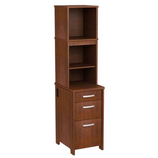 Bush Furniture Envoy Collection 3 drawer Pedestal with Hutch