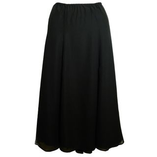 Shining Star Womens Black Georgette Six gore Skirt