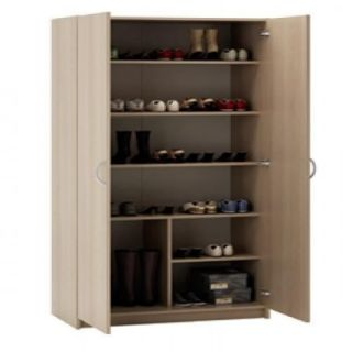80 x P 41 x H 170 cm. Armoire à chaussures CHENE BLOND   Structure