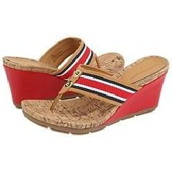 Tommy Hilfiger Posy Red/Natural Sandals
