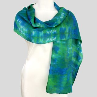 Gypsy River Riches Hand Dyed Washable Neptune Silk Scarf