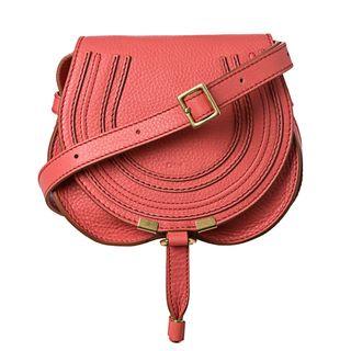 Chloé Marcie Mini Paradise Pink Leather Round Cross body Bag