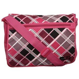 Angels Pink Argyle Messenger Bag