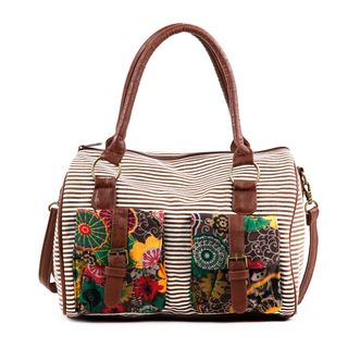 Nikky Jocie Flowers Stripes Boston Bag