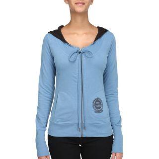 Coloris bleu. Sweat 55 DSL Femme, 69 % coton, 31 % polyester, à
