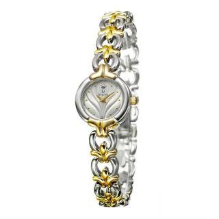 Bulova Womens Two tone Stainless Steel Quartz Diamond Dress Watch