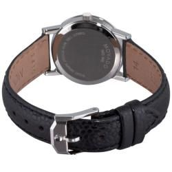 Movado Womens Museum Classic Black Leather Strap Watch