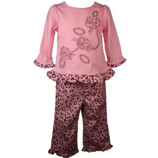 BT Kids Pink Leopard Print Pant Set
