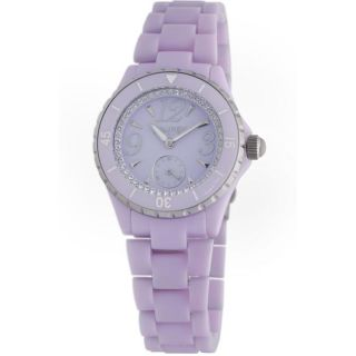 Haurex Italy Womens Make Up Lilac Plastceramic Watch