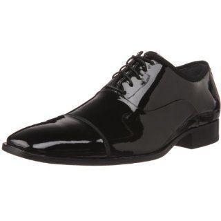 Calvin Klein Mens Eric Oxford,Black Patent,8.5 M US Shoes