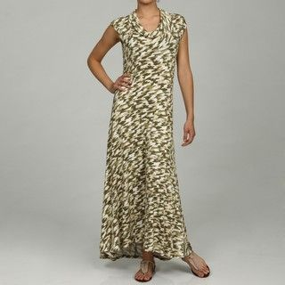 MICHAEL Michael Kors Womens Camouflage Sleeveless Cowl Neck Maxi
