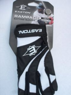 Easton Rampage Youth Batting Gloves Black/White Youth Size
