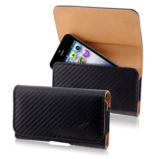 BasAcc Black/ Brown Horizontal Leather Case for Apple iPhone 5