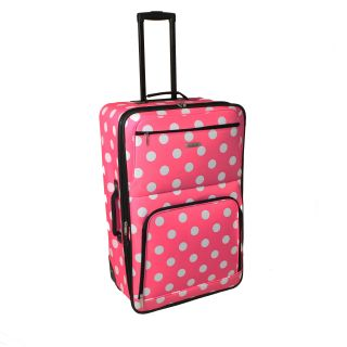 Rockland Pink Dot 28 inch Expandable Rolling Upright Luggage Today $