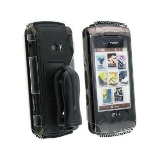Eforcity Black Neoprene Case for LG EnV Touch VX11000