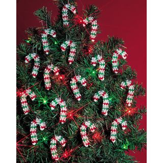 Holiday Beaded Ornament Kit Mini Candy Canes 2 Makes 24