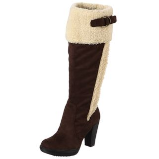 Naturalizer Womens Trinity Brown Wide Calf Boots