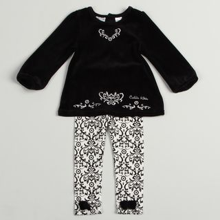 Calvin Klein Toddler Girls Black/ White 2 piece Set