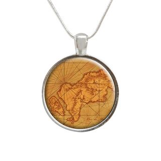 Map of the World Glass Pendant and Necklace