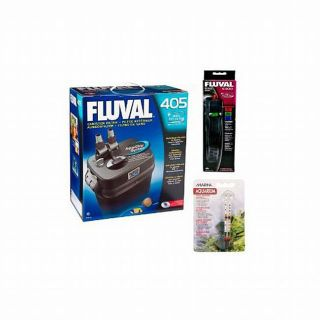 Fluval 405 25 Gallon Aquarium Filter with Heater Kit and Thermometer