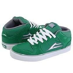 Lakai Carroll Select Green Suede Athletic Shoes   Size 9 D