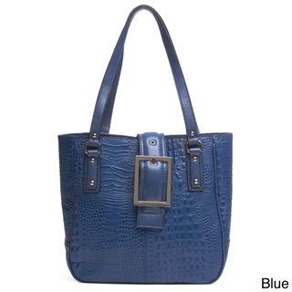 Franco Sarto Kidman Croco Embossed Leather Tote Bag