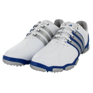 Adidas Tour 360 4.0 White/ Blue/ Metallic Golf Shoes