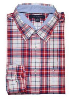 Tommy Hilfiger Men Checkard Logo Long Sleeve Shirt (S