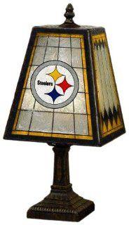 NFL Pittsburgh Steelers 14 Inch Art Glass Lamp Sports