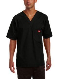 Dickies Mens Raglan Sleeve Solid Scrub Top Clothing