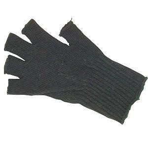 Black Genuine GI Fingerless Wool Gloves