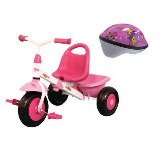 Kettler Kiddi O Layana Trike With Razor Pink Butterfly Toddler Helmet