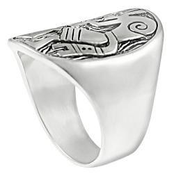 Tressa Sterling Silver Diamond Chip Kokopelli Ring