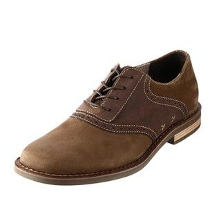 Original Penguin Mens Terry Brown Leather Oxfords