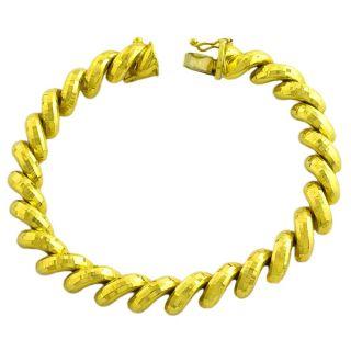 Fremada 14k Yellow Gold Diamond cut San Marco Bracelet