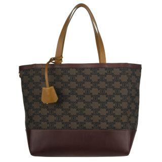 Celine 167802DLJ Brown Canvas Logo Tote Bag