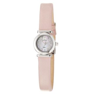 Skagen Womens Glitz Stainless Steel and Pink Leather Crystals