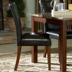 ETHAN HOME Keith 5 piece Faux Marble Top Table with Faux Leather