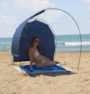Titanium Easy Solar Beach Tent   Custom Adjust Shade  Blue